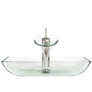 The Polaris Sinks P046 Crystal Brushed Nickel Bathroom Ensemble