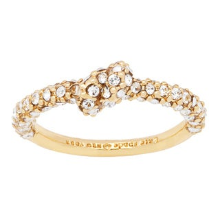 kate spade 'Sailor's Knot' Goldtone Pave-set Stone Ring