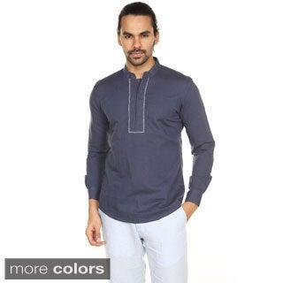 In-Sattva Anita Dongre Men's Embellished Madarin Collar Pullover Tunic (India)
