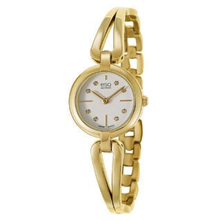 ESQ by Movado Women's 07101444 Corbel Gold-Toned White Dial Diamond Accented Watch