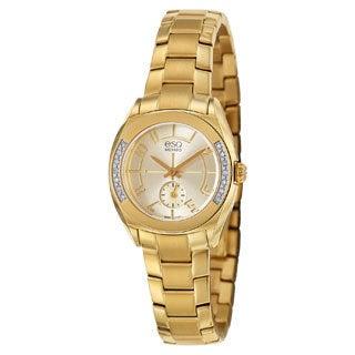ESQ by Movado Women's 07101425 Origin Gold-Tone Diamond Watch