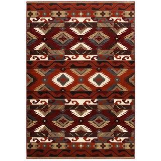 LNR Home Adana Terracotta Southwestern Area Rug (1'10 x 3'1)