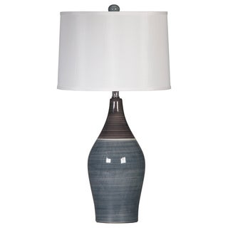 Signature Designs by Ashley Niobe Two-tone Grey Ceramic Table Lamps (Set of 2)