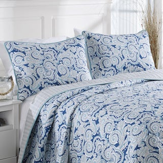 Nautica Aquinah Reversible Cotton 3-piece Quilt Set
