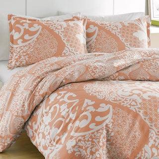 City Scene Medley Coral Cotton Reversible 3-piece Comforter Set