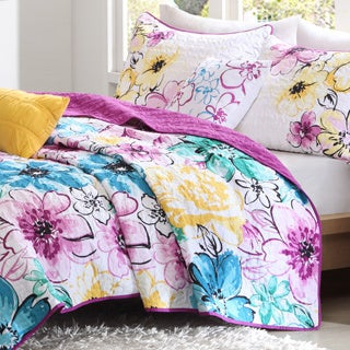 Intelligent Design Ashley 4-piece Reversible Coverlet Set