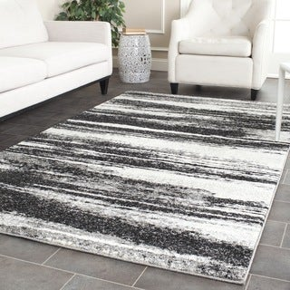 Safavieh Retro Dark Grey/ Light Grey Rug (10' x 14')