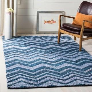 Safavieh Hand-Tufted Nantucket Blue/ Multi Cotton Rug (9' x 12')