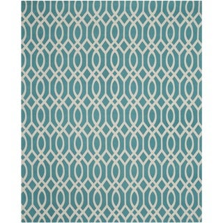 Safavieh Handmade Cedar Brook Light Teal/ Ivory Cotton Rug (9' x 12')