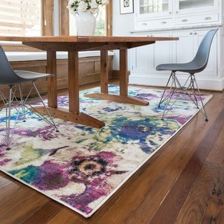Skye Monet Magenta/ Multi Rug (7'7 x 10'5)