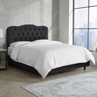 Made to Order Black Tufted Bed