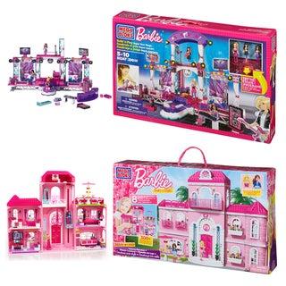 Mega Bloks Barbie Mansion and TV Stage Playset Combo