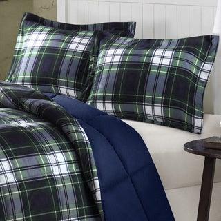 Comfort Classics Hartford Plaid Down Alternative 3-piece Comforter Set