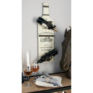 Rustic Vineyard Wine and Stemware Rack