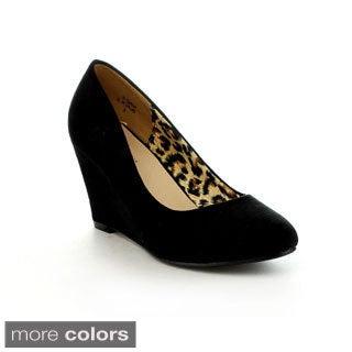 BELLAMARIE NINE-5 Women's Classic Almond Toe Mid Wedges