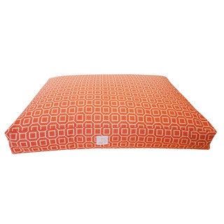 Hexagon Orange Small Pet Bed
