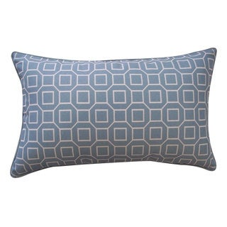 Hexagon Robin Outdoor Throw Pillow