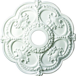 Ornate 18-inch Round Ceiling Medallion with Scalloped Edges