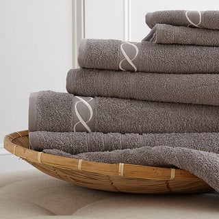 Egyptian Cotton Embroidered Chain 6-piece Towel Set