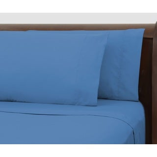 Bright Ideas Blue Wrinkle-resistant Sheet Set