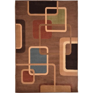 Miranda Contemporary Brown Area Rug (5'3 x 7'7)