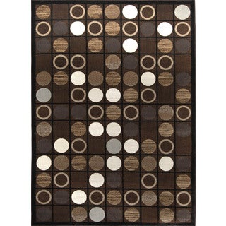 Fresh Transitional Brown Area Rug (7'10 x 10'10)