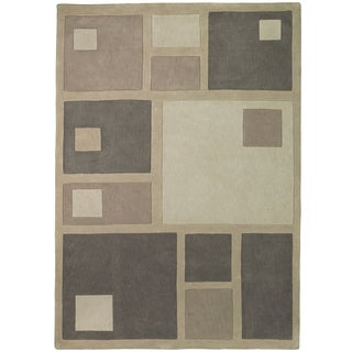 Christopher Knight Home Trio Squares Brown/ Tan Area Rug (5' x 7'6)