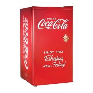 Nostalgia Electrics Coca-Cola Series 3 Cubic Foot Refrigerator / Freezer