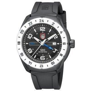 Luminox Men's A.5027 'SXC' Black/White Dial Black Rubber Strap Date Time Quartz Watch