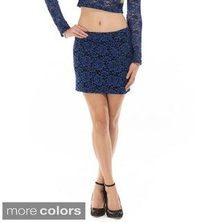 Queen Anne's Women's Lace Mini Skirt