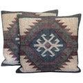 Herat Oriental Indo Kilim Throw Pillows (Set of Two)