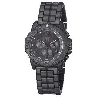 Luminox Men's A.3082.BO 'Colormark' Black Dial Black Polycarbonate Bracelet Chronograph Watch
