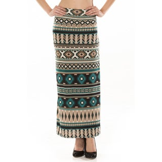 Women's Southwest Ikat Print Maxi Skirt