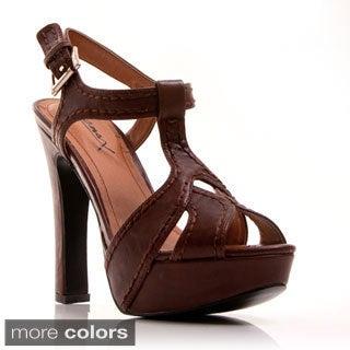 nger 02' T-strap Plaform High Heel Sandals