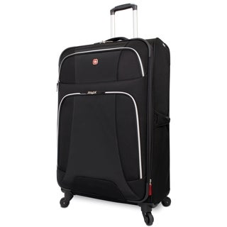 Wenger Monte Leone Black 29-inch Large Expandable Spinner Upright Suitcase
