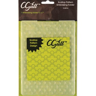Cgull 12-0014 Scallop Pattern Embossing Folder