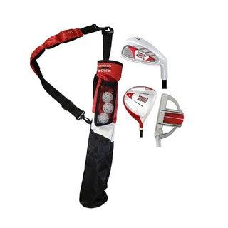 MOG 3 Piece Red Zone Jr Golf Set/Stand Bag, 5 & Under