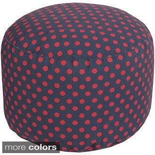 Polka Dots Outdoor/ Indoor Decorative Cylinder Pouf