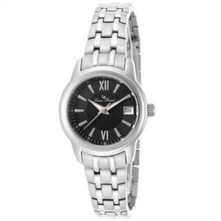 Lucien Piccard Women's Stainless Steel Laurez Black Dial Watch