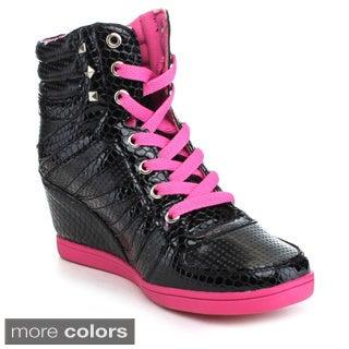 Reneeze KELLEY-3 Women's High Top Wedge Heel Sneakers