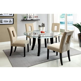 Furniture of America Ethanar 5-piece Round Dining Set