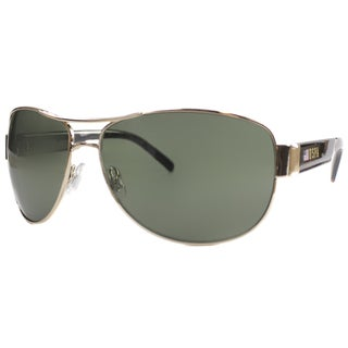 US Polo Association Unisex Palm Beach Goldtone and Tortoise Metal Aviator Sunglasses