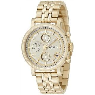 Fossil ES2197 Goldtone Chronograph Watch