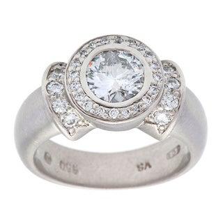 Pre-owned Platinum 1 1/4ct TDW White Diamond Estate Engagement Ring (H-I, I1-I2)