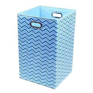 Sky Zig Zag Folding Laundry Basket