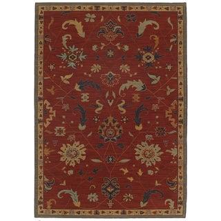 Woven Karastan English Manor Preston Red Wool Rug (8'6 x 11'6)