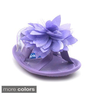 Blue Baby's P-Fluffy Floral Shoes