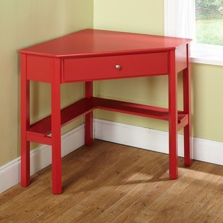 Simple Living Ellen Red Corner Desk