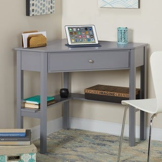 Simple Living Ellen Grey Corner Desk