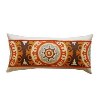 Zanihe Orange Geometric 12x20-inch Pillow